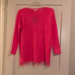 NWT Lilly Pulitzer pink mini Ramona sweater sz XL